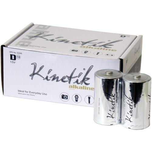 Kinetik D Alkaline Batteries, 12 Pk (pack of 1 Ea)