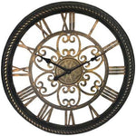"Westclox 19.5"" Wall Clock With Antique Black And Gold Finish (pack of 1 Ea)"