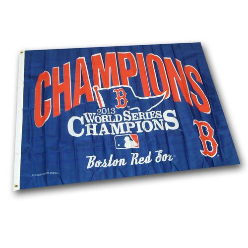 MLB Boston Red Sox 2013 World Series Champions 3-Foot by 5-Foot Banner Flag
