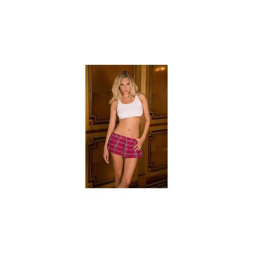 Schoolgirl Mini Skirt - Hot Pink - Small