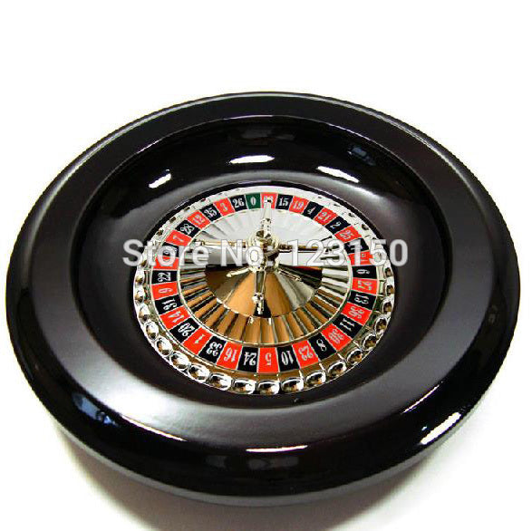 "RS-006 MDF Roulette, 16"" Wooden Gift Roulette, Casino Game, Professional Roulette"