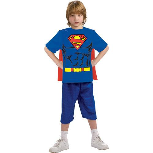 SUPERMAN CHILD SHIRT CAPE SM