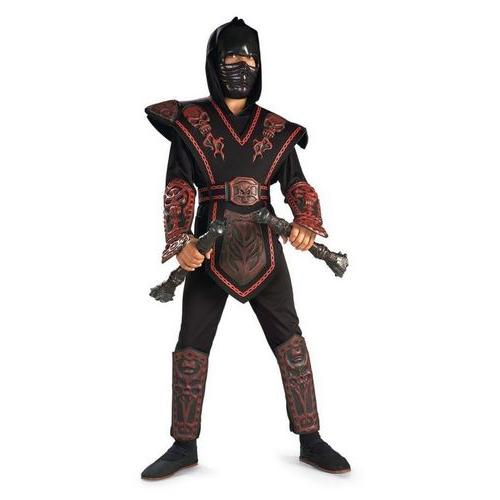 RED SKULL WARRIOR NINJA CHLD L