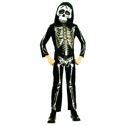 SKELETON CHILD COSTUME LARGE