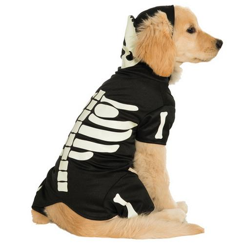 PET COSTUME BONES GLOWS SM