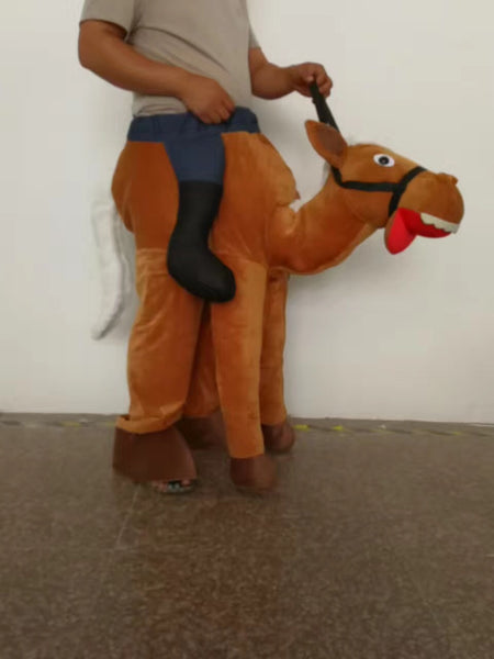 Ride A Horse Deluxe Adult Costume Cowboy Cosplay Mascot Costumes New Year Costume Adult Horse ride on me Funny Dress