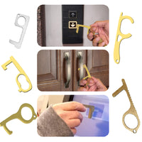 NO TOUCH Door Handle Artifact Keychain Avoid Touching Key Buckle Clean Key RubRab Handmade Door Opener Key Chain