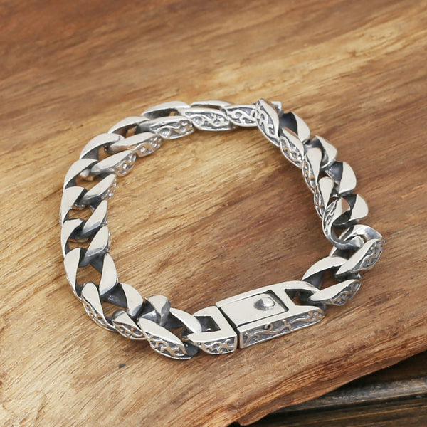 S925 men's fashion wholesale silver jewelry handmade Vintage Silver  Bracelet original personality