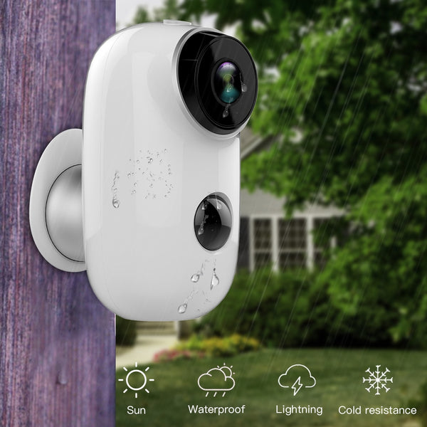 100% Wire-Free Rechargeable Battery CCTV Wifi Camera IP Outdoor IP65 Weatherproof Indoor Security Camera PIR Motion Alarm