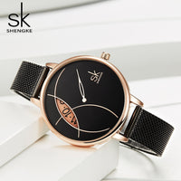 Women Black Curve Waterproof Watch