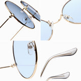 SIMPRECT Retro Round Sunglasses Women 2019 Brand Designer UV400 Vintage Metal Frame Sun Glasses Fashion Lunette De Soleil Femme