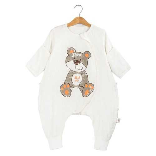 TUBENG Cute Baby Straddle Long Sleeve Crawling Rompers Sleeping Bag