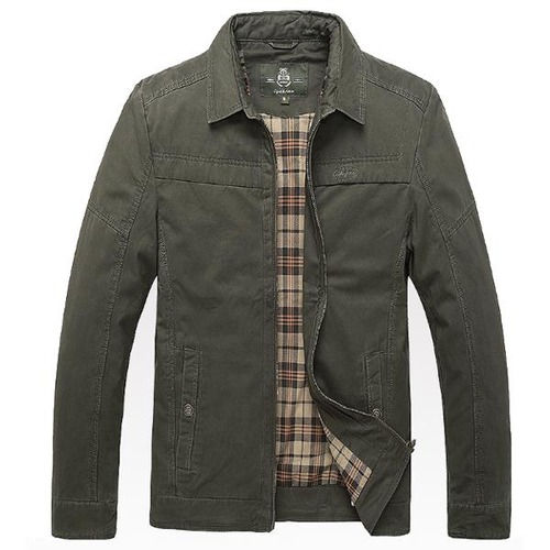 Plus Size Outdoor Cargo Loose Cotton Jackets for Men