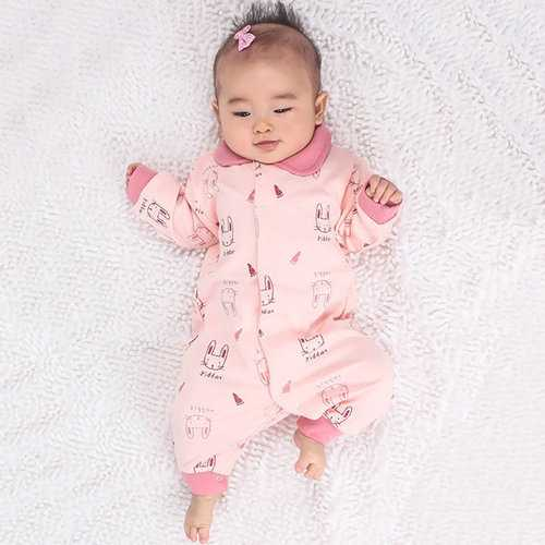 TUBENG Cute Baby Animal Print Long Sleeve Crawling Rompers