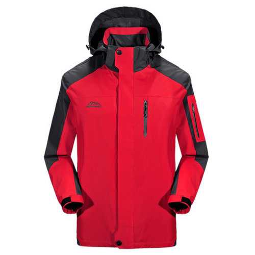 Plus Size Detachable Hood Outdoor Water Repellent Jackets