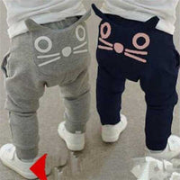 Cat Printed Baby Boys Long Pants
