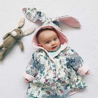 Baby Rabbit 3D Ear Floral Jacket
