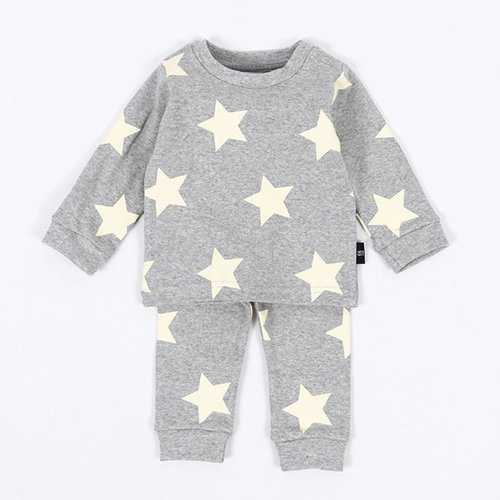 2Pcs Stars Baby Boys Girls Clothing Set