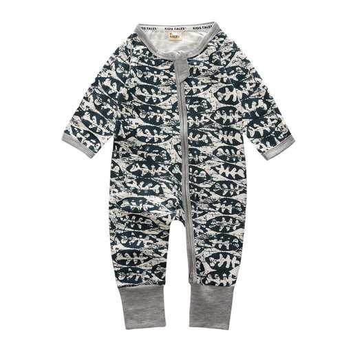 Summer Pattern Baby Boys Rompers