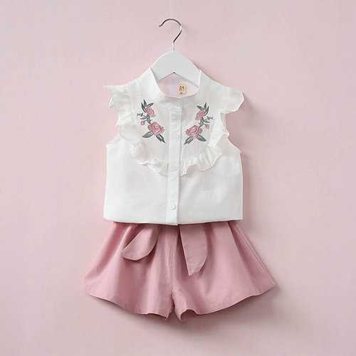 Summer Baby Girls Clothing Set