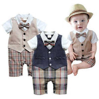 Newborn Baby Boy Gentleman Rompers