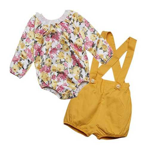Floral Newborn Baby Girl Clothing Set
