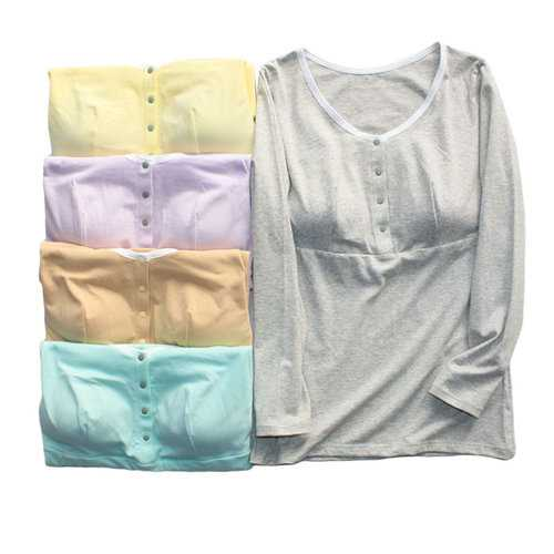 Cotton Paded Maternity Long Sleeve Top
