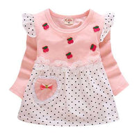 Baby Girls Casual Cotton Dresses