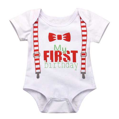 First Birthday Style Baby Romper