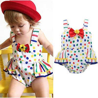 Polka Dot with Ruffles Baby Girls Romper