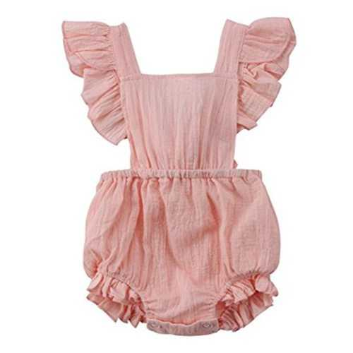 Cross Back Baby Girls Cotton Soft Romper