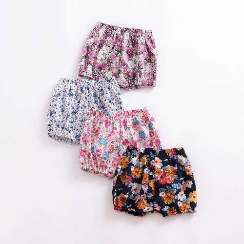 Floral Printed Baby Girls Shorts