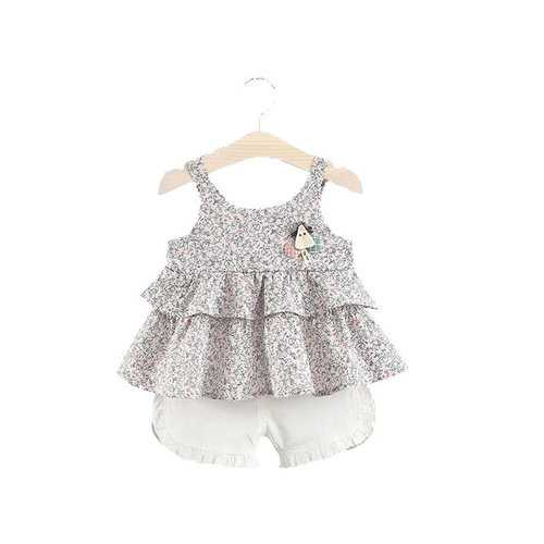 Soft Comfy Floral Baby Summer Outfits Set
