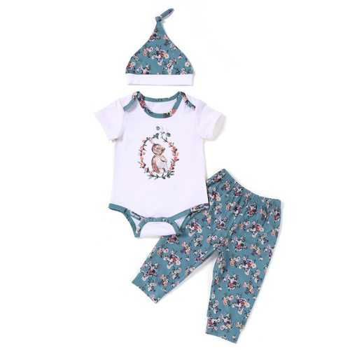 Soft Cotton 3Pcs Unisex Baby Romper Set