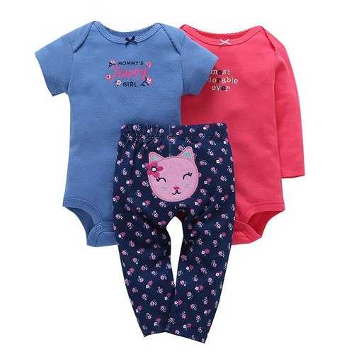 3Pcs Unisex Baby Clothing Sets