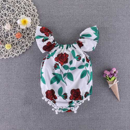 Pure Cotton Floral Baby Girls Romper