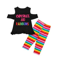 Letter Print Toddlers Clothing Sets