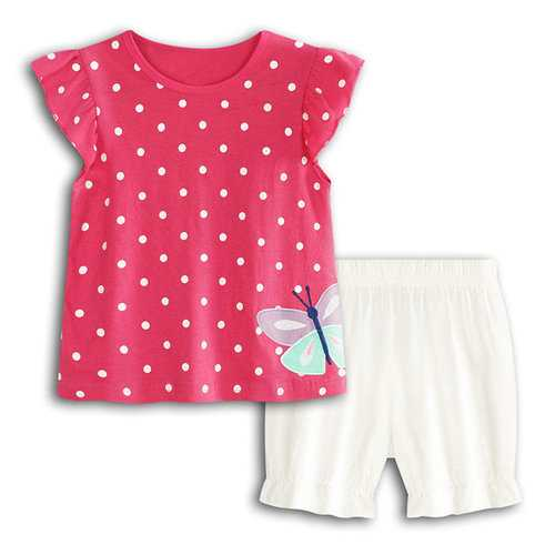 Butterfly Printed Baby Girls Short Set