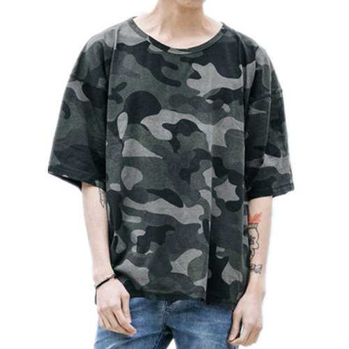 100%Cotton Breathable Summer Camo T Shirt
