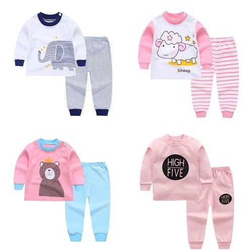 Unisex Cartoon Pattern Baby Clothing Set