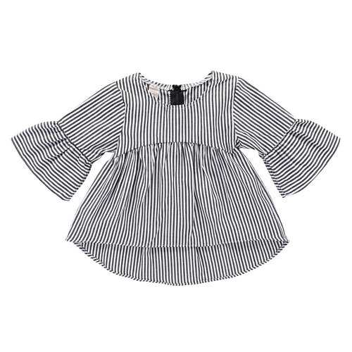 Striped Stylish Baby Girls Dress