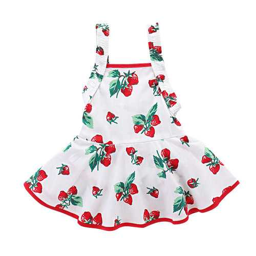 Strawberry Baby Girls Romper Dress