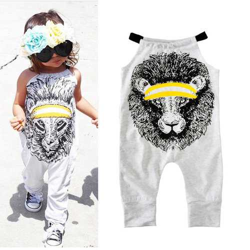 Lion Baby Cotton Romper For 0-36M