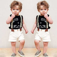 3Pcs Printed Boys Clothes Set
