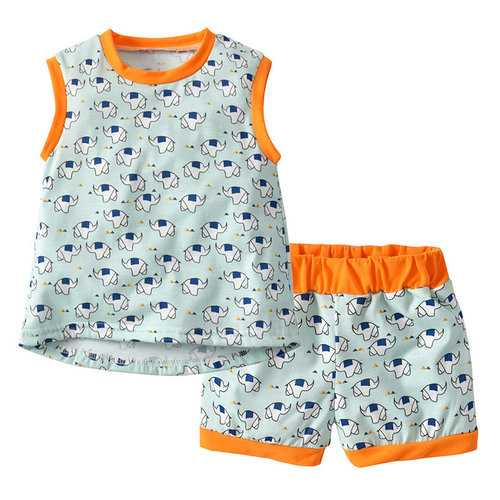 Elephant Print Girls Clothing Set