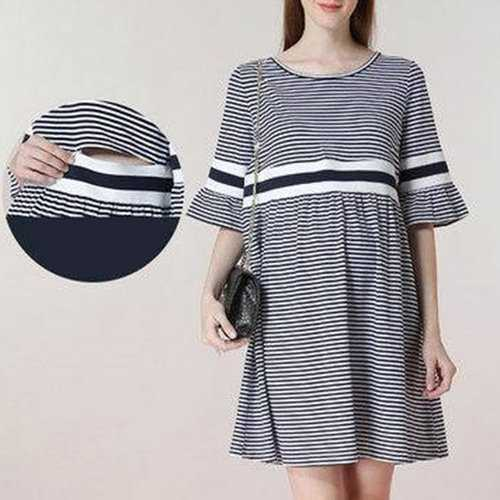 Striped Dress For Pregnant Women