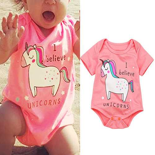 Cartoon Animal Girls Romper For 0-24M