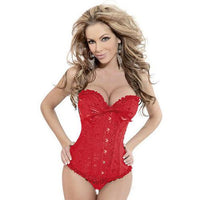 Red Overbust Brocade Corset