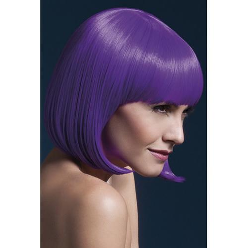 Smiffy The Fever Wig Collection Elise - Neon Purple