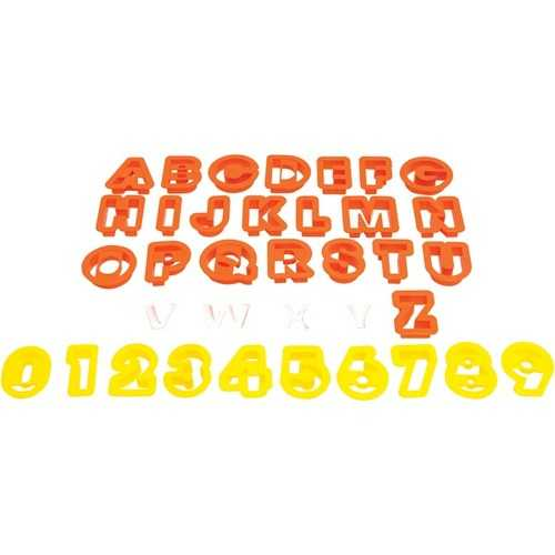 Starfrit(R) 080845-006-0000 The Cookie Cutters (Numbers & Letters)